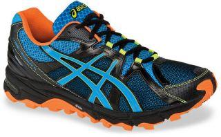Mens Asics Gel Scout Running Shoe Black/Horizon Blue/Orange