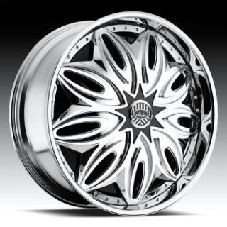 22 DAVIN REVOLVE SPINNERS Illicut WHEEL SET 22x9.5 RIMS 5   6 Lug