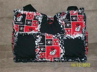 Georgia Bulldogs Dawgs Football Rag Quilt Diaper Bag Tote or Purse