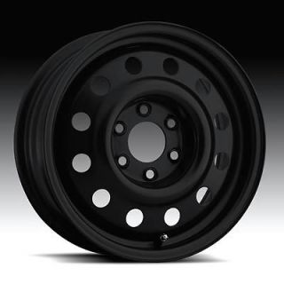 Wheel 62 Series Snow Black Steel Wheels 15x6 4x4.5 BC Set of 4