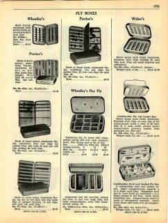 1941 Bill Dewitt Fly Fishing Boxes Perrine Book 4 Pg ad