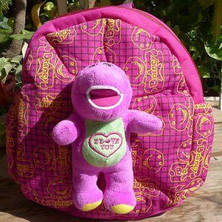 New Barney Small School Bag Plush Backpacks Cute Lovely GIFT