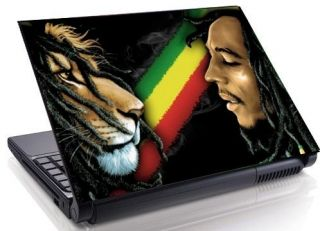BOB MARLEY LION Rasta Laptop Skin Decal 10.1 15.4 17 19 Mini