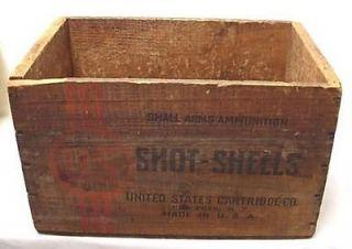 Ammunition Hunting WOOD AMMO BOX US CARTRIDGE DEFIANCE Shot Gun Shells