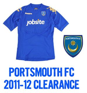 PORTSMOUTH FC POMPEY MENS HOME SHORT SLEEVE FOOTBALL SOCCER SHIRT