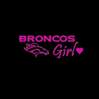 Denver Broncos Girl FUSCHIA PINK ♥ Vinyl Car Window Sticker decal