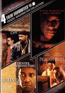 Denzel Washington Collection 4 Film Favorites DVD, 2011, 4 Disc Set