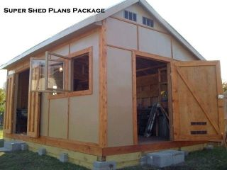 Custom Design Shed Plans, 12x16 Medium Saltbox, Easy to follow, Shed