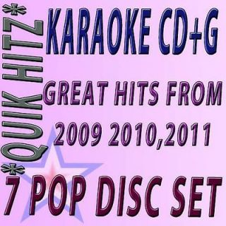 POP CD+G KARAOKE QUIK HITZ FROM 2009 /2011 W/BEYONCE,RIHANNA,NE YO