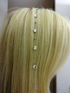 Swarovski Crystal Hair Extension by Amanda Jones Designs