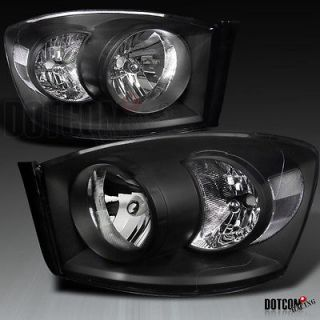 06 08 DODGE RAM BLACK DIAMOND HEADLIGHTS [NO AMBER BAR] LH RH (Fits