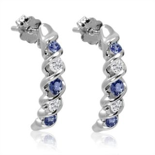 diamond hoop white earrings