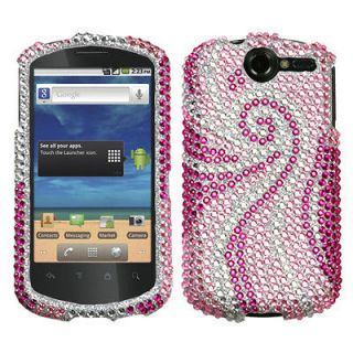 U8800(Impulse 4G) Case Cover Bling Rhinestones Phoenix Tail Diamond
