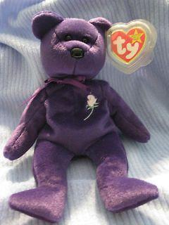 RARE TY BEANIE BABIES PRINCESS DIANA BEAR 1997 #464