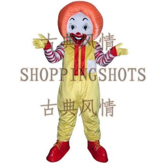 Ronald McDonald Mascot Costume Fancy Dress R00323 suits adult one