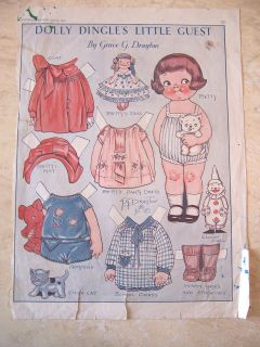 Jan 1930 Dolly Dingles Little Guest paper doll   by Grace Drayton