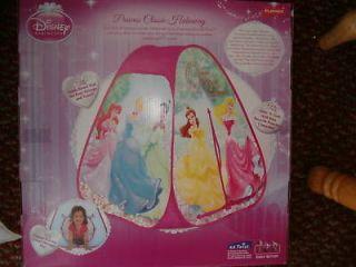 New Disney Princesses Pop Up Play Hut Tent NIB