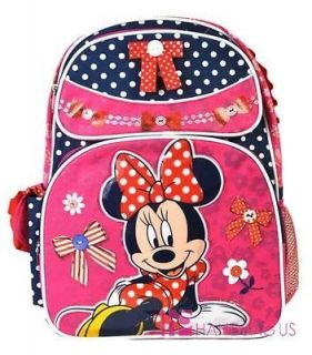Licensed Disney MINNIE MOUSE Bow 16 Large Polka Dot Backpack School