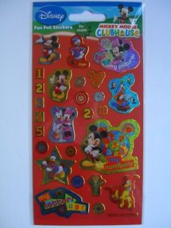 MICKEY MOUSE CLUBHOUSE(Disney)2 Sheets of Foil Stickers