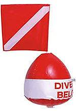 Scuba Dive Flag and Inflatable Ball Float