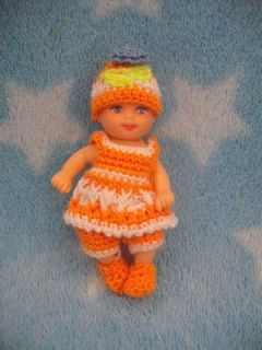 shoe hat handmade crochet clothes barbie baby krissy 2.5 doll toys