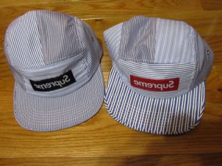 Box Logo Comme Des Garcons CDG Shirt Camp Cap Panel Hat Donegal Safari