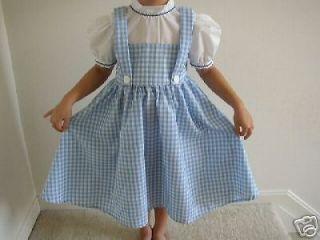New Handmade Dorothy Wizard of Oz Costume Dress 5 6