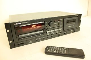 Teac Tascam Professional Dual CD Player Cassette Deck Combo with