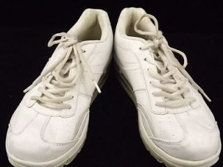 Womens shoes white leather comfort Dr Scholls 9.5 M walking sneakers
