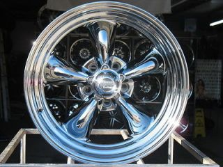 15X7 CHROME AMERICAN RACING VN815 WHEELS RIMS 5X4.5 5X4 1/2 HOT ROD