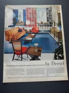 Vintage 1959 Drexel Furniture Home Decor Original Print Ad