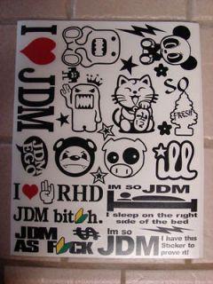 Vinyl Werks Sticker Bomb Sheet, JDM, Honda, VW, Evo, Subaru, drift