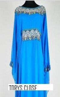 DUBAI VERY FANCY KAFTANS/abaya/​jalabiya(blue)