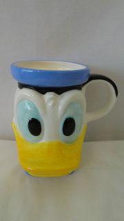 WALT DISNEY DONALD DUCK HEAD COFFEE MUG OR CUP #E601