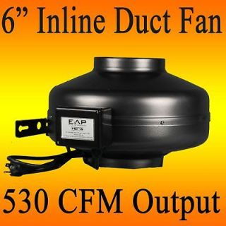 HYDROPONIC INLINE EXHAUST VENT FAN DUCT BLOWER 530 CFM 24 HR SHIPPING