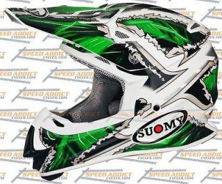 Suomy Mr Jump MX Monster Green Fox Dirt Bike Motocross Helmet Medium