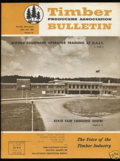 1969 Duluth Minnesota TIMBER BULLETIN State Fair Logging Show Issue