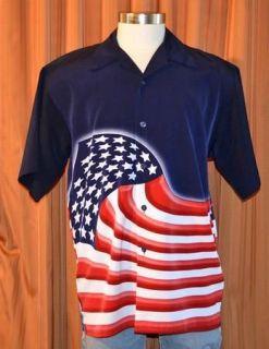 Dragonfly USA AMERICAN FLAG RED WHITE BLUE SHORT SLEEVE SHIRT MENS