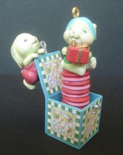 Jack in the Box Bunny Rabbit Carlton Cards Christmas Ornament Heirloom
