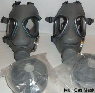 Brand New NATO M9 style Military Gas Mask & Two SEALED 60mm Filters