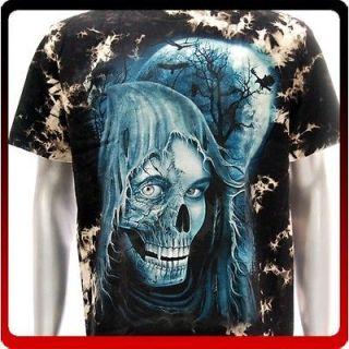 r95 Rock Eagle T shirt Sz M Tattoo Glow in Dark Ghost Biker Rider