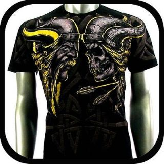 Artful Couture T Shirt Tattoo Rock AB63 Sz M L XL XXL Biker Rider