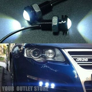 2X 3W LED Car Motorcycle Eagle Eye Head Tail Light License Plate Screw