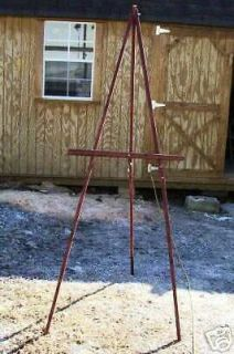 Red stain wood ARTIST EASEL Display painting easel art supplies easels