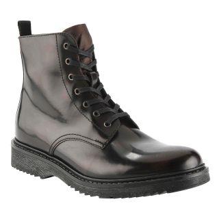 Aldo Gick Ankle High Lace Up Boots Bordeaux Leather Mens Size 41 8 D