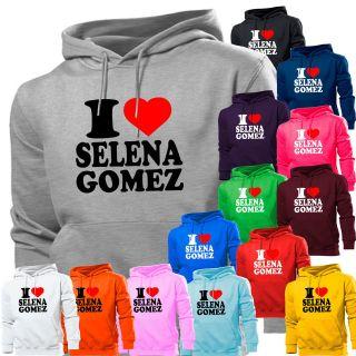 LOVE SELENA GOMEZ HEART HOODIE HOODY WOMENS BOYS GIRL KIDS MENS