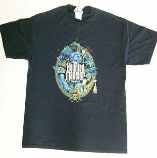 Disneyland Haunted Mansion Navy Blue Shirt Large