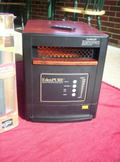 EDEN PURE GEN4 infrared heater with remote, heats up to 1000 sq. ft.