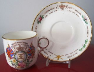 King Edward VIII Proposed Coronation & Accession Cup & Saucer by