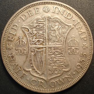 1935 Half Crown silver coin from Great Britain King George V